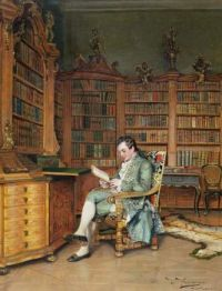 """The Bibliophile"", by Johann Hamza"