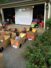 Clever kid's drive in movies.