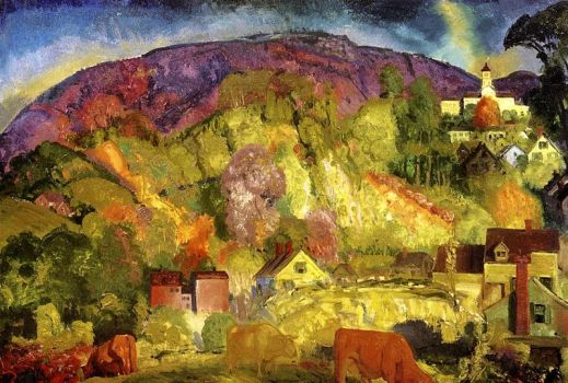 Village on the Hill by George Bellows
