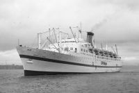 EMPRESS OF CANADA in the River Mersey