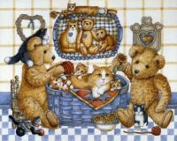 Teddies and kittens ~ challenge puzzle