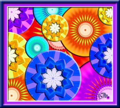 Flower Wheels... (In the Many Pieces Size).....