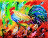 Rooster Brought to You in Living Color