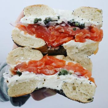July 26th is National Bagelfest - New York Style Bagel Sandwich