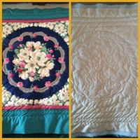 my quilt in progress front & back