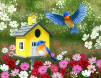 Bluebirds Found A Home In The Cosmos.....