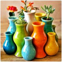 Colourful Collection of Ceramic Vases