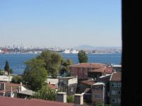 Sea of Marmara from rooftop restaurant, Istanbul, Turkey