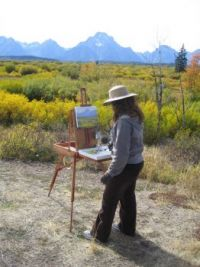 Painting Grand Tetons