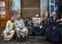 Cairo Men Hanging Out Together
