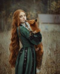 Lady with fox