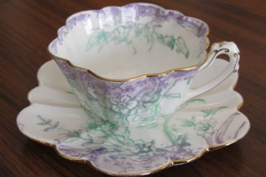 Tiny Shelley ( Old Foley) cup and saucer