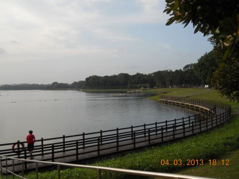 The Fishing Jetty at Bedok Reservoir Park, Singapore
