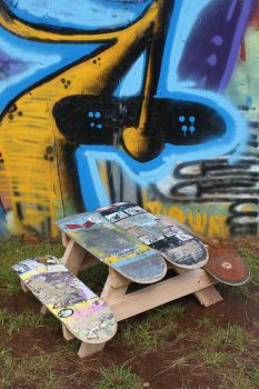 skateboard picnic table for kids