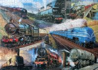 Steamtrains Montage Jigsaw