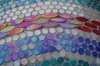 Colored Mosaic on Exterior Concrete Wall