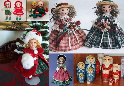 Christmas dolls and figurines - small