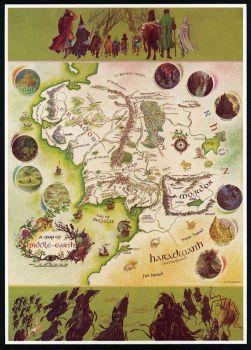 MIddle Earth Map by P. Baynes