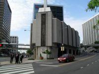 Church over filling station Arlington