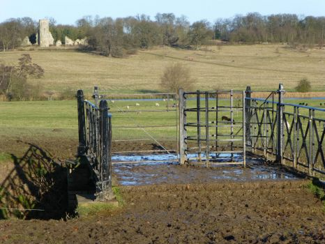 Muddy bridge, Wimpole Hall