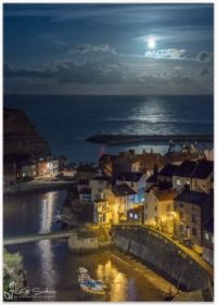 Staithes Village in the Moonlight