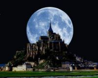 Mont Saint-Michel, a rocky island in Normandy , France