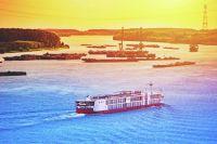 Cruise Ship At Harbor