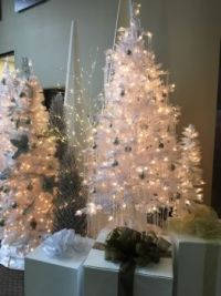 Christmas Trees in White II