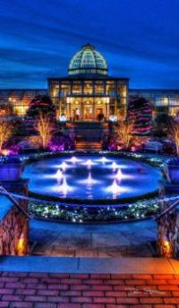 Beautiful night lights- Ginter Botanical Gardens, Richmond Virginia