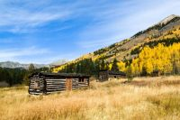 Cabin and Schoolhouse in Winfield, Colorado