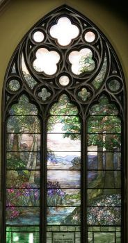 Theme, Historic Places:  Tiffany Pastoral Stained Glass Window, Second Presbyterian Church, Chicago
