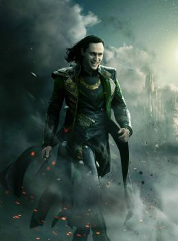 Loki on fire
