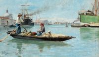 "Carl Skånberg, ""Port of Venice"""