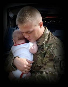 my son says goodbye to his baby girl before heading to Afghanistan