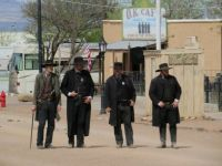 reenactors about to head off to the OK Corral in Tombstone