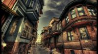 Street in Turkey town