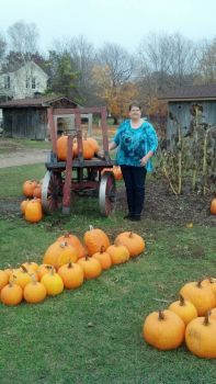 Lyddia in the Pumpkin Patch