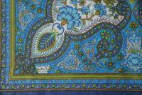 Liberty blue scarf detail