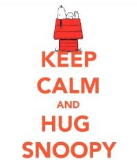 Keep Calm And Hug Snoopy