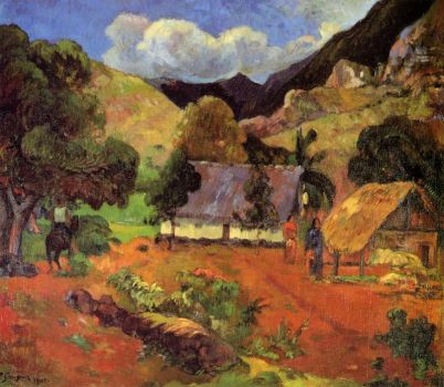 Lanscape with Three Figures by Paul Gauguin