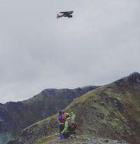 Plane watching in Hatcher Pass Alaska