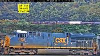 CSX-3334 HSC in conset at Horseshoe Curve (84-pc)