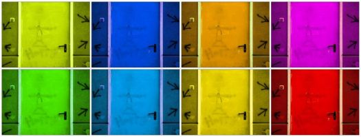 colored doors