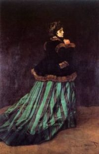 Claude Monet - Camille in the Green Dress, 1866 (May17P07)