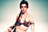 Young Carrie Fisher as Princess Leia in Return of the Jedi