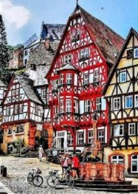 Colourful Village in Germany