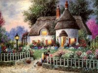 """Cottage Garden""  by Dennis Patrick Lewin"