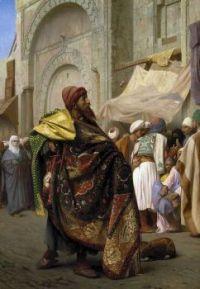"""Jean-Léon Gérôme, """"The Carpet Merchant of Cairo"""""""