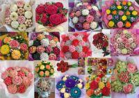 Floral cupcake bouquets