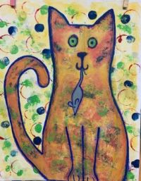 Rusty with Mouse by Jane Paquin.